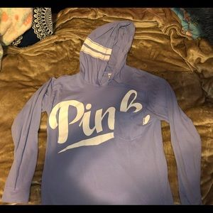 PINK hooded long sleeve